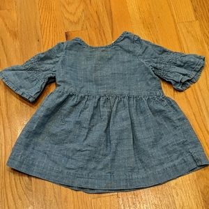 Baby Gap chambray top with metallic threads